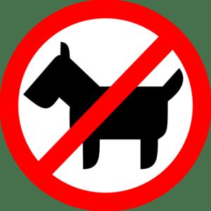 señal animales prohibidos