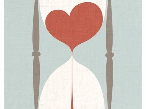 reloj de arena corazon amor