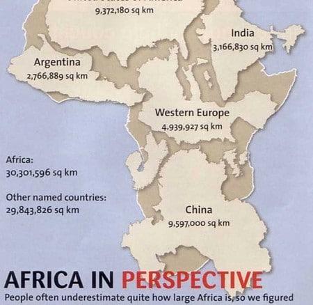 El tamaño real de Africa. Mercator y el Mapa de Peters
