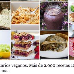 40 recetarios veganos. Más de 2000 recetas 100% vegetarianas