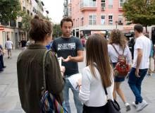 Bio Victor calle camiseta gris