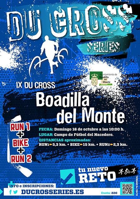 Cartel oficial - Du Cross 16 octubre 2016 - Boadilla del Monte