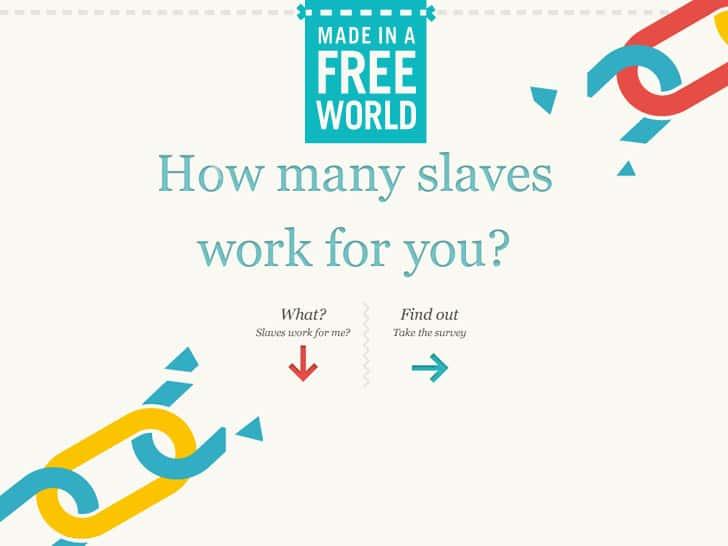 26 esclavos y esclavas trabajan para mi. ¿Y para ti?