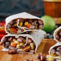 Burrito de chili de alubias