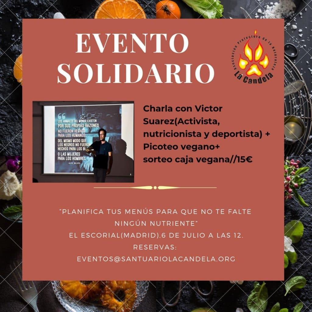 Cartel Escorial 9 julio 2019. Conferencia Victor Suarez